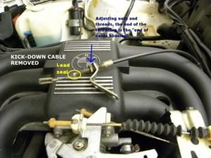 Salah Menyetel Kabel Accelerator Kickdown